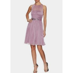 Adriana Papell Halter Chiffron Formal Dress 4